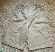 French Toast Boys Size 16 Khaki School Uniform Shorts Adjustable Waist