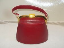 Super cute vintage 1950's Plazzio red leather handbag