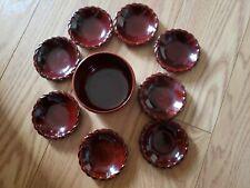 Maruni Lacquerware Coasters, Handmade in Occupied Japan - 8 in set