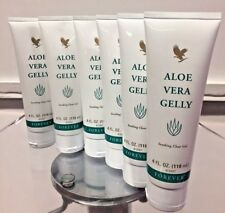 6 pcs Tubes Forever Living Aloe Vera Gelly  (4 oz each tube) Soothing Clear Gel