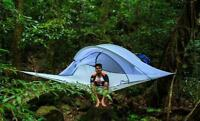 Hanging tree tent Multi-persons hammock tree house with Removable rainfly(Gray)