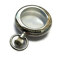 Uhrengehäuse Taschenuhr POLJOT 3105 Edelstahl poliert Pocket Watch Case Housing