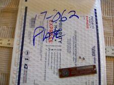 "Name Serial Number Plate & Original Brads From Vintage Wood Lathe 1 1/4"" Bed Gap"