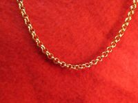 16 INCH GOLD STAINLESS STEEL 4MM ROLO LINK ROPE CHAIN NECKLACE GOLD