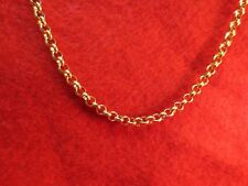 36 INCH GOLD STAINLESS STEEL 4MM ROLO  LINK ROPE CHAIN NECKLACE GOLD