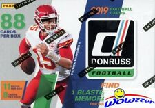 2019 Donruss Football EXCLUSIVE Factory Sealed Blaster Box-MEMORABILIA+11 ROOKIE