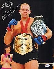 Fedor Emelianenko Signed 11x14 Photo PSA/DNA COA Pride Grand Prix Belt Autograph