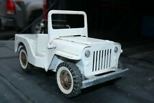 Tonka AA Jeep Tow Wrecker Plow Service Truck - pressed steel paint added