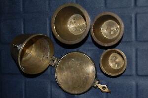 3 Bechergewichte in Gehäuse Russland Crossen / 1 Pfund 1856   59297