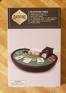 Mini Blackjack Table Set With All Accessories by Dashing Fine Gifts (NIB)