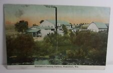 Hustisford Canning Factory Building Wi Antique Postcard   T*