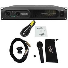 Crest Audio ProLite 5.0 5000 Watt Professional Power Amplifier+Peavey Microphone