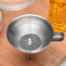 Stainless Steel Decanting Pouring Funnel With Filter Jam Strainer Kitchen Tools