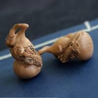 Naturholz geschnitzt Kürbis handgefertigte Handwerk  Hause Miniatur Ornamente