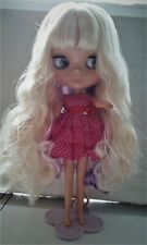 Blythe Nude blonde/purple hair Doll from factory