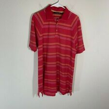 Tommy Bahama Golf 18 Striped Knit Polo Shirt M