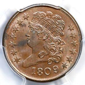 1809/6 C-5 PCGS MS 63 BN Classic Head Half Cent Coin 1/2c