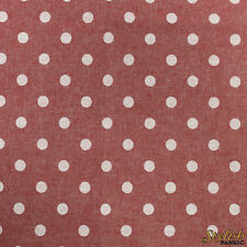 Solid Colored Polka Dot 58'' Chambray Cotton Fabric by the Yard or Sample Swatch
