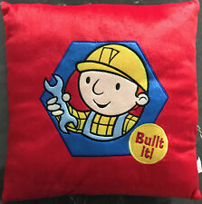 Bob the Builder Plush Boys filled Cushion | Red | 38x38cm | Embroidered detail