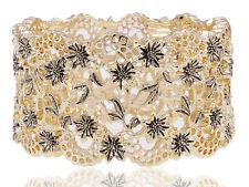 Golden Chic geométricas de varios colores Rhinestone Pulsera Brazalete de Moda Regalo Brazalete