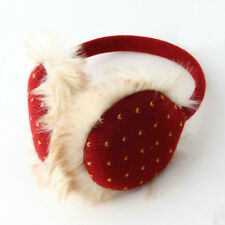 Red with Yellow Mini Hearts MP3 Earmuffs for Fall & Winter