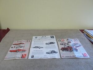 VGT 3 IN 1 AMT MODEL KIT INSTRUCTIONS ONLY 1936-40 FORD 1961  T-BIRD ORIGINAL