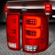 [FULL LED+DUAL 3D TUBE BAR]FOR 04-08 FORD F150/LOBO TAIL LIGHT/BRAKE LAMPS RED