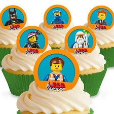 Cakeshop 12 x PRE-CUT The Lego Movie Edible Cake Toppers