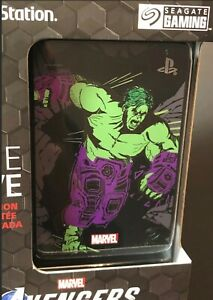 Seagate 2TB Game Drive for PS4 [ Marvel Avengers Hulk Limited Edition ] NEW