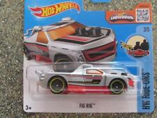 Hot Wheels 2016 #068/250 Fig Rig Argent sur Rouge HW Ride-ons case E