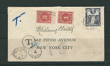 BRITISH GUIANA 1935 KGV POSTAGE DUE cover to New York USA