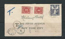 BRITISH GUIANA 1935 KGV POSTAGE DUE cover to New York USA