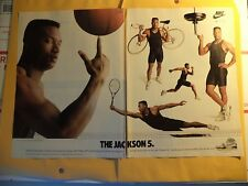 Bo Jackson 1989 NIKE Air CROSS TRAINER AIR SC SHOES MAGAZINE 2- PAGE AD  KNOWS
