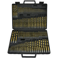 115 PC Titanium Coated Drill Bit Set | High Speed Steel W/ Index Case