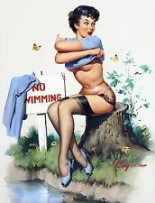 Pin-up Gil Elvgren No Bikini A Toll High Quality Metal Magnet 3 x 4 inches 9513