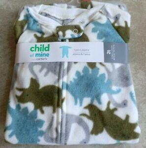 New Toddler Boys Girls 2T Dinosaur Blanket Sleeper Footed Pajamas Child of Mine