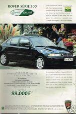 Publicité advertising 1998 Rover Serie 200 Swing & Smart