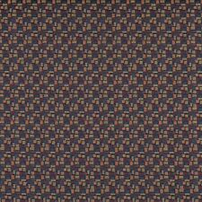 C750 Red Black Yellow blue Geometric Rectangle Upholstery Fabric By The Yard