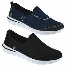 Ladies Womens Slip On Memory Foam Casual Walking Running Gym Trainers Shoes Size