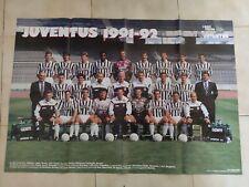 POSTER HURRA' JUVENTUS 1991 1992 91-92 ROSA ROBERTO BAGGIO PERUZZI TACCONI