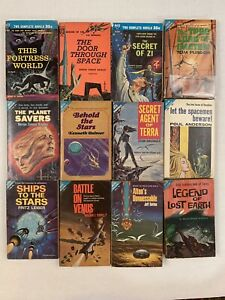 ACE Science Fiction Double Novel Lot of 12 Different Titles 1950's-60's