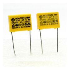 2x Condensateurs MKP MEX-X2 220nf 0.22uF P:15mm 275V - Tenta - 224con481