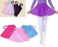 Girls Kids Ballet Dance Dress Leotard Chiffon Skirt Party Dancewear Costume