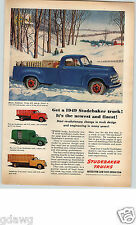 1949 PAPER AD Truck Studebaker Pick-Up Stake Insulated Milk Stock Rack Body