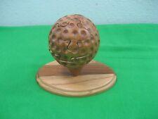 Vintage Wooden Golf Ball Wooden Puzzle Brain Teaser on Wood Platform