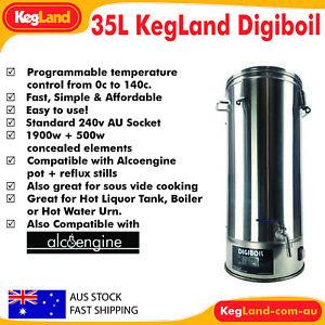 35L DigiBoil - Digital Turbo Boiler 2400watt Distillation Spirits Essential Oils