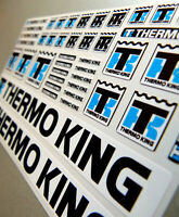 THERMO KING Trailer - Aufkleber 1:14 Sticker Tamiya Wedico Decal KÜHLER 069