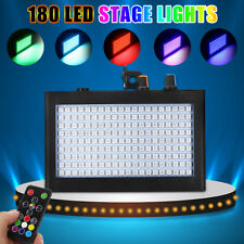 180 LED Strobe Flash Stage Effect Light Party Disco DJ Speed Sound Lighting Lamp