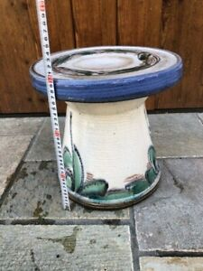 Japanese pottery chair For garden Vintage Japanese style White and blue