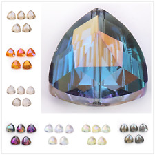 Crystal  10pcs DIY Beads Glass Wholesale 18mm Spacer Loose Triangle Rondelle
